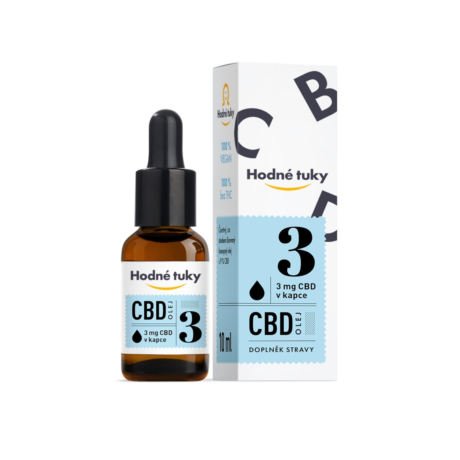 Hodné tuky CBD olej 9% 10 ml
