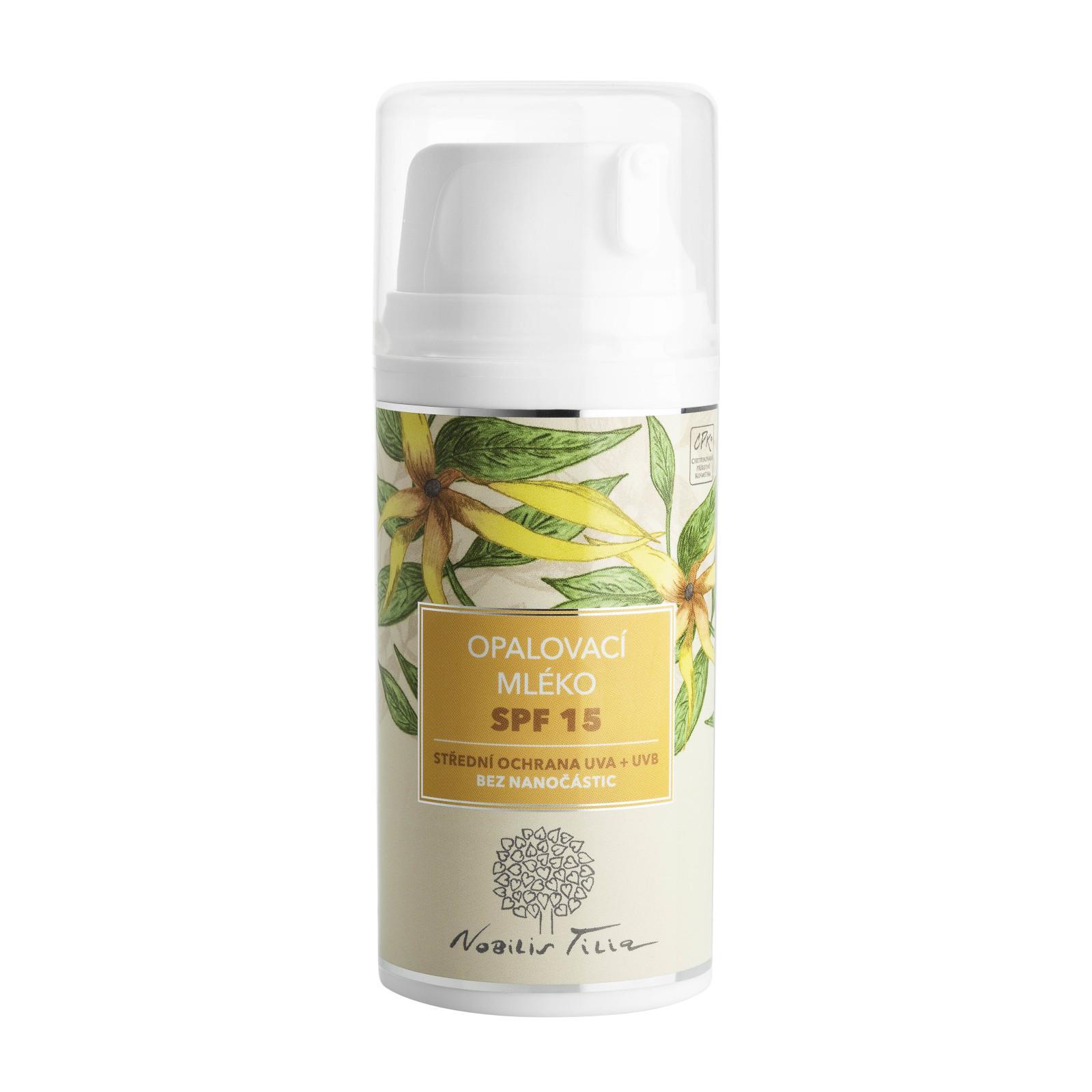 Nobilis Tilia Opalovací mléko SPF 15 100 ml