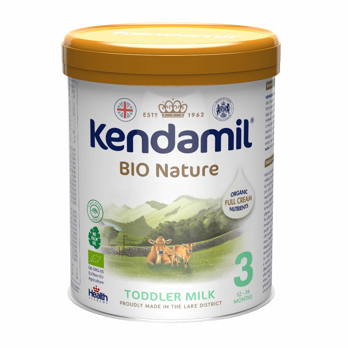 Kendamil BIO Nature Organic batolecí mléko 3 DHA+ 800 g