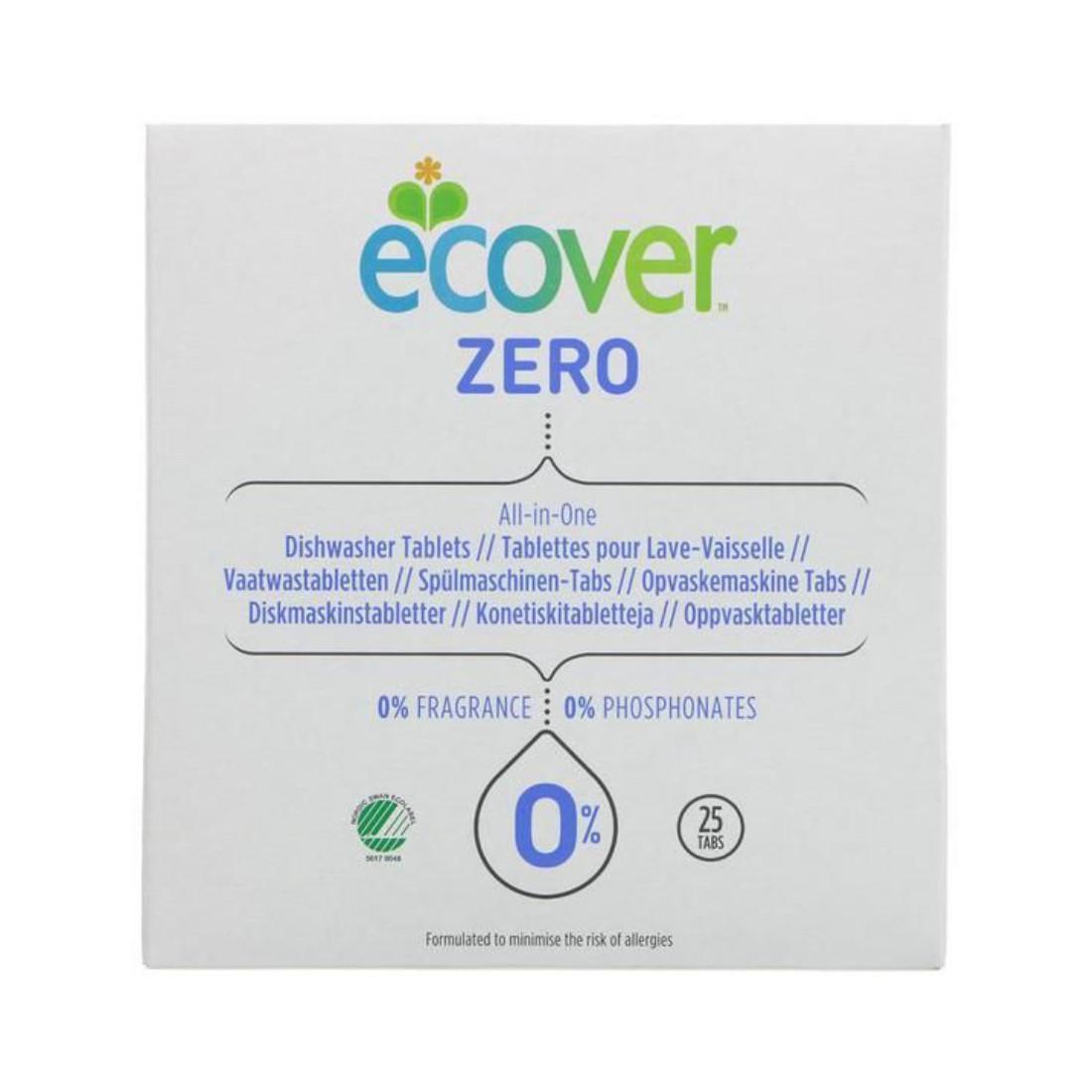 Ecover ZERO Tablety do myčky na nádobí All-in-One 500 g, 25 ks