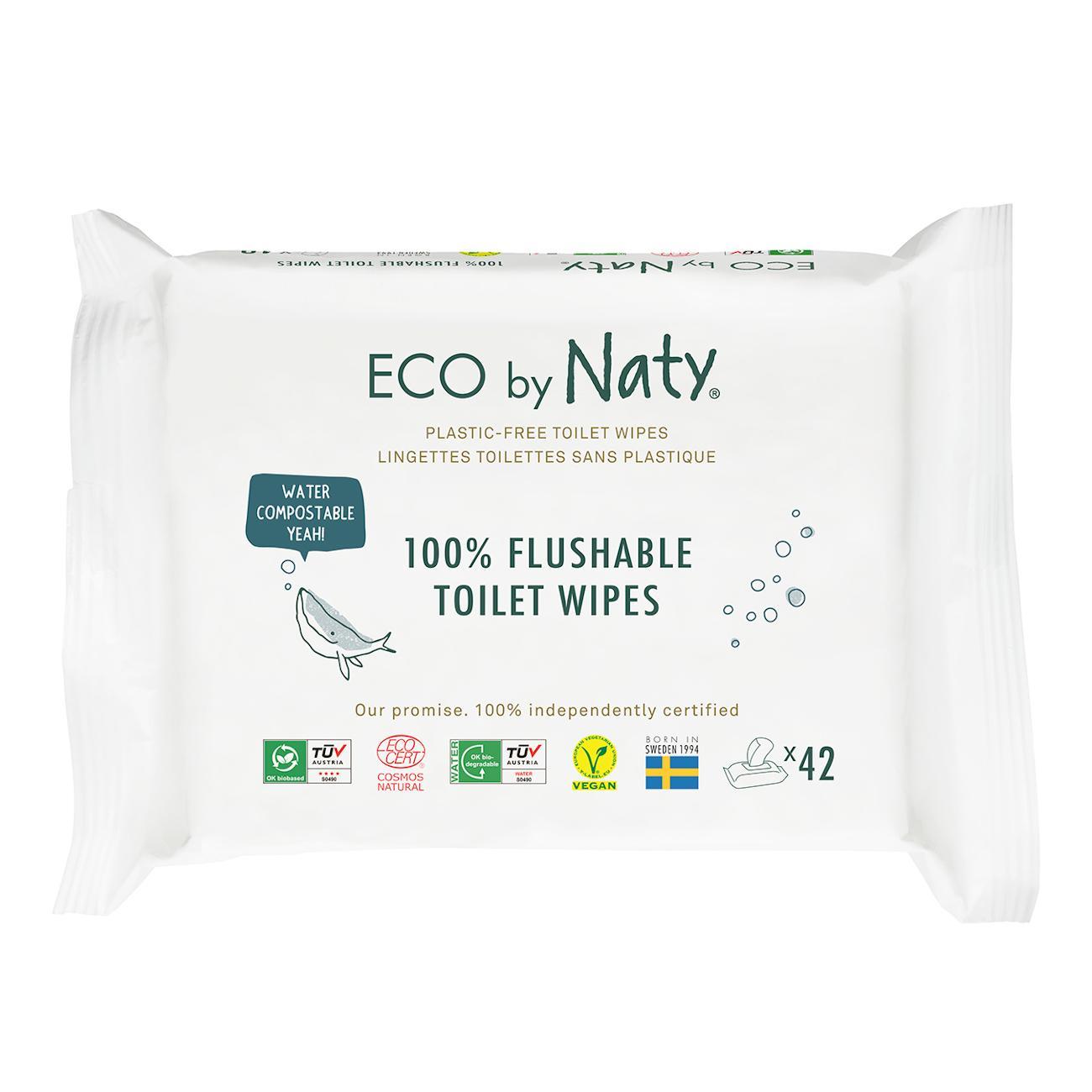 Eco by Naty Vlhčené ubrousky s funkcí toaletního papíru 42 ks