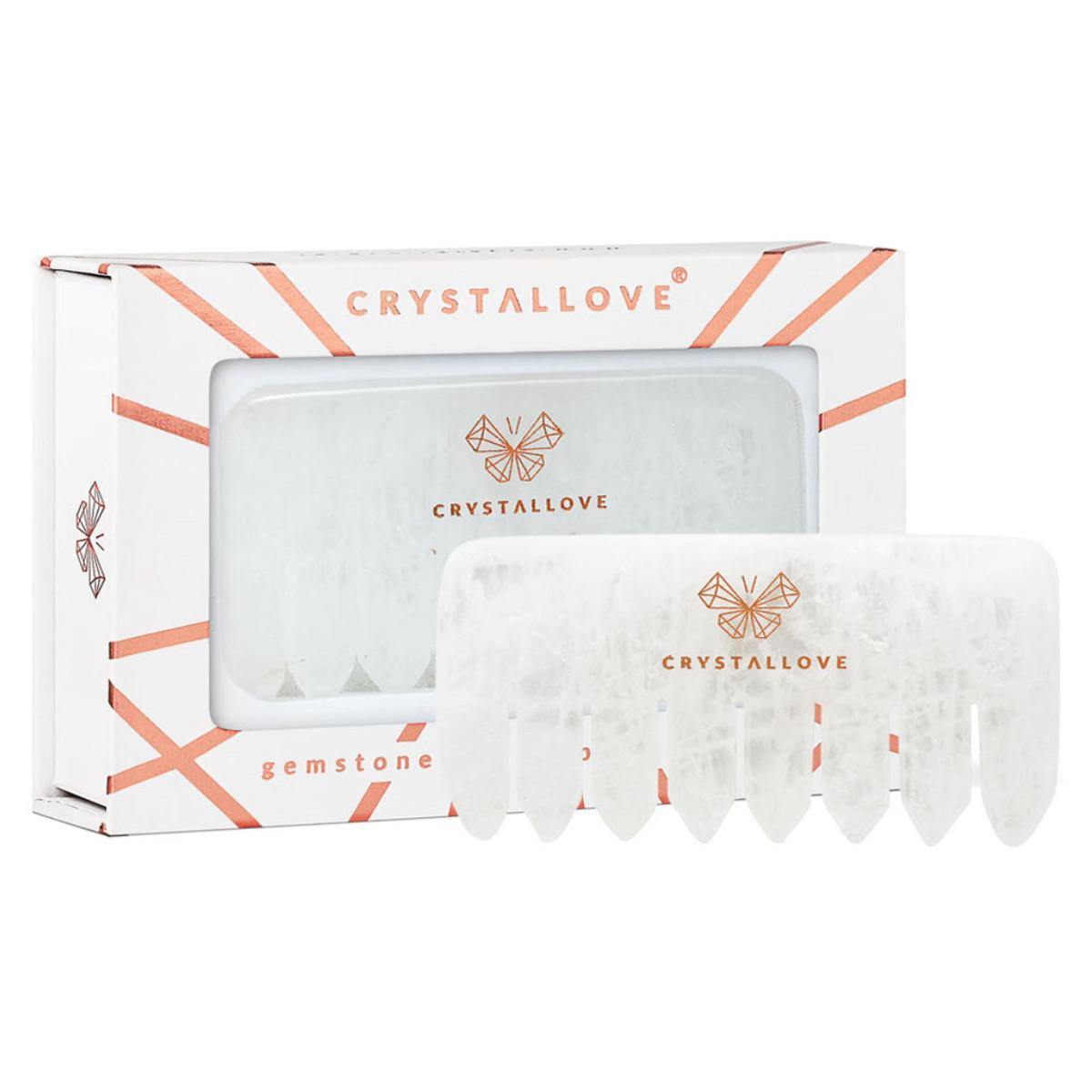 Crystallove Hřeben na vlasy, Clear quartz 1 ks