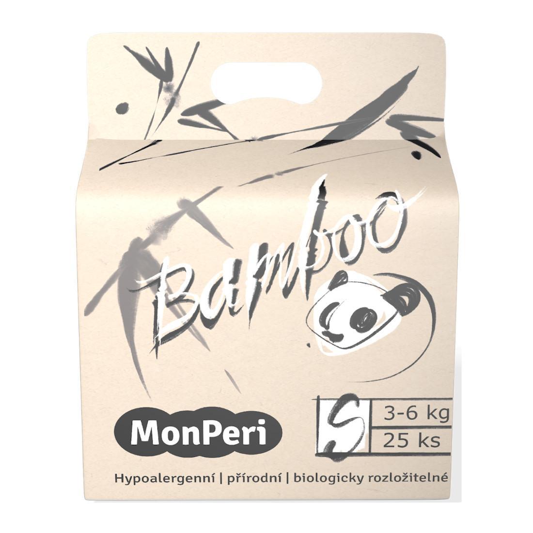 MonPeri Bamboo EKO 1 ks, vel. S / 3-6 kg