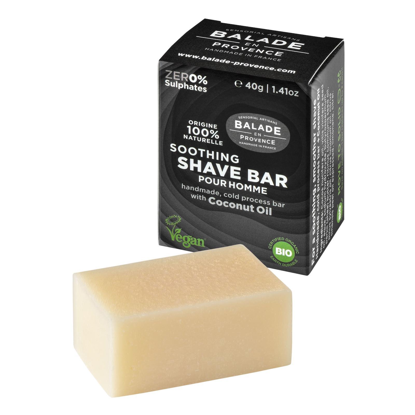 Balade en Provence BIO Zklidňující tuhé mýdlo na holení pro muže citrus 40 g