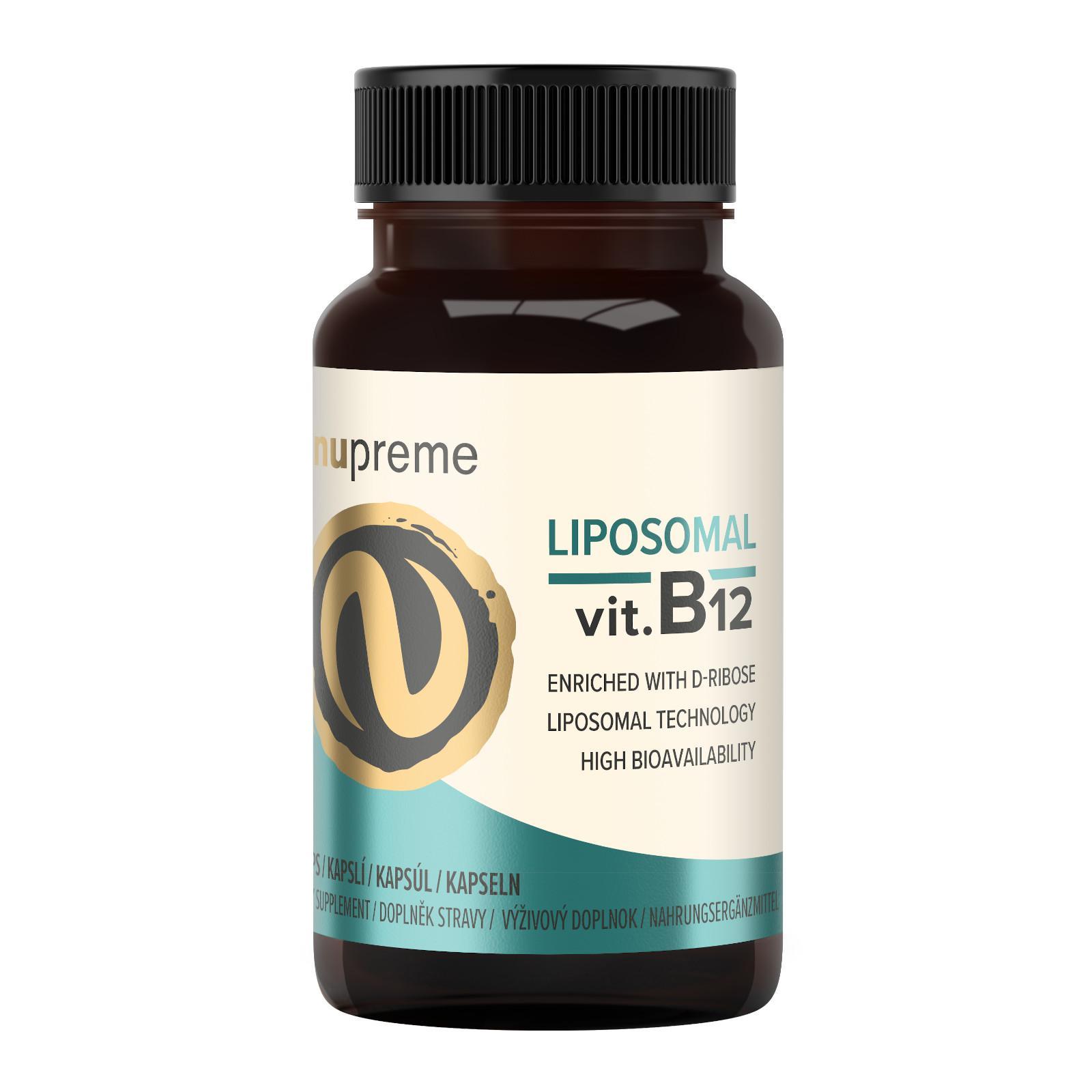 Nupreme Lipozomální Vitamin B12, kapsle 30 ks, 11,7 g