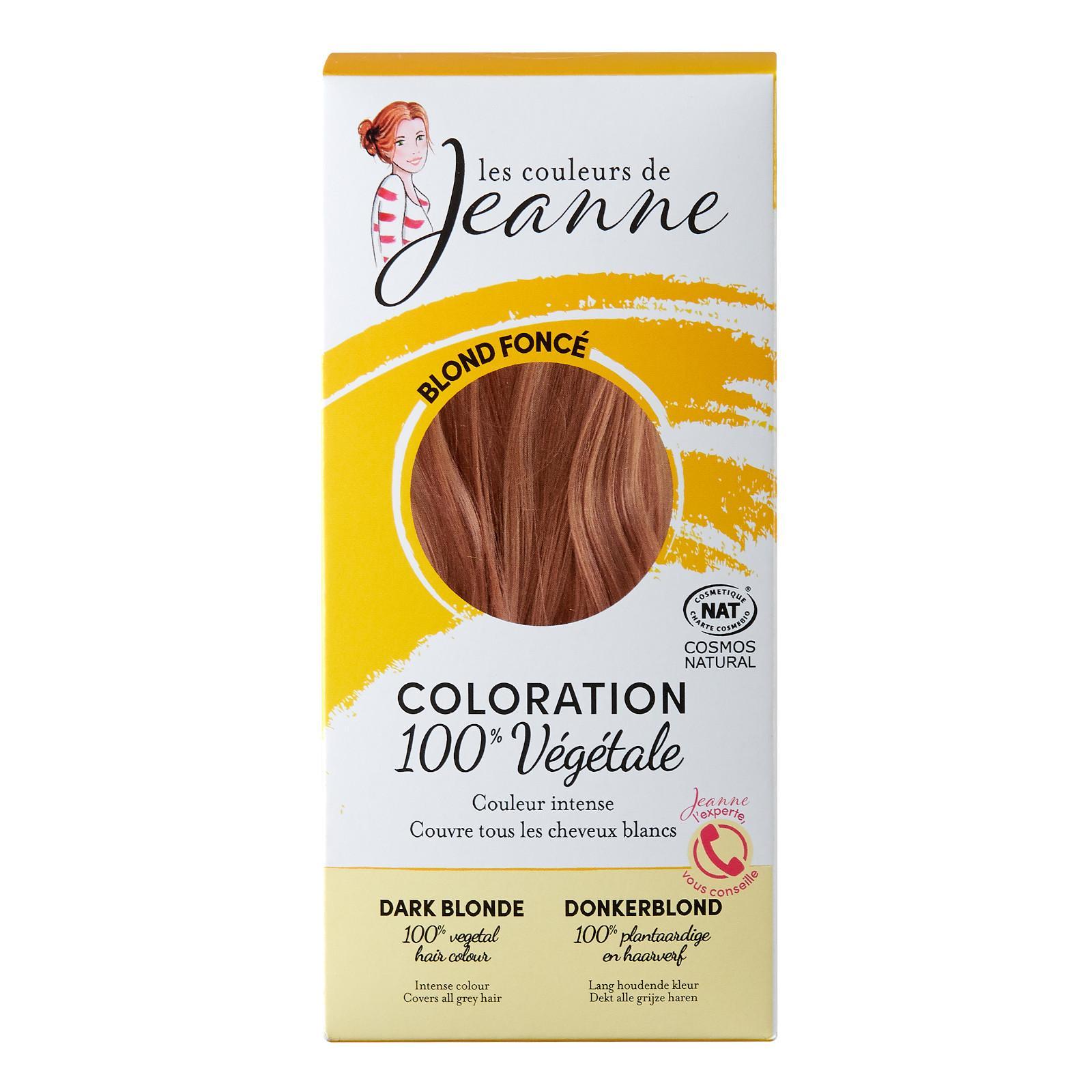 Les couleurs de Jeanne Barva na vlasy tmavá blond 2 x 50 g