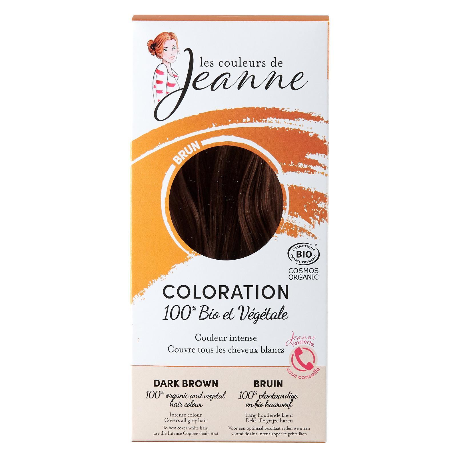 Les couleurs de Jeanne Barva na vlasy tmavě hnědá 2 x 50 g