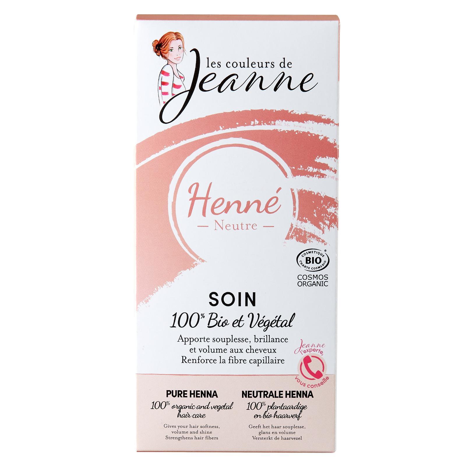 Les couleurs de Jeanne Neutrální henna, bezbarvý regenerační zábal 2 x 50 g