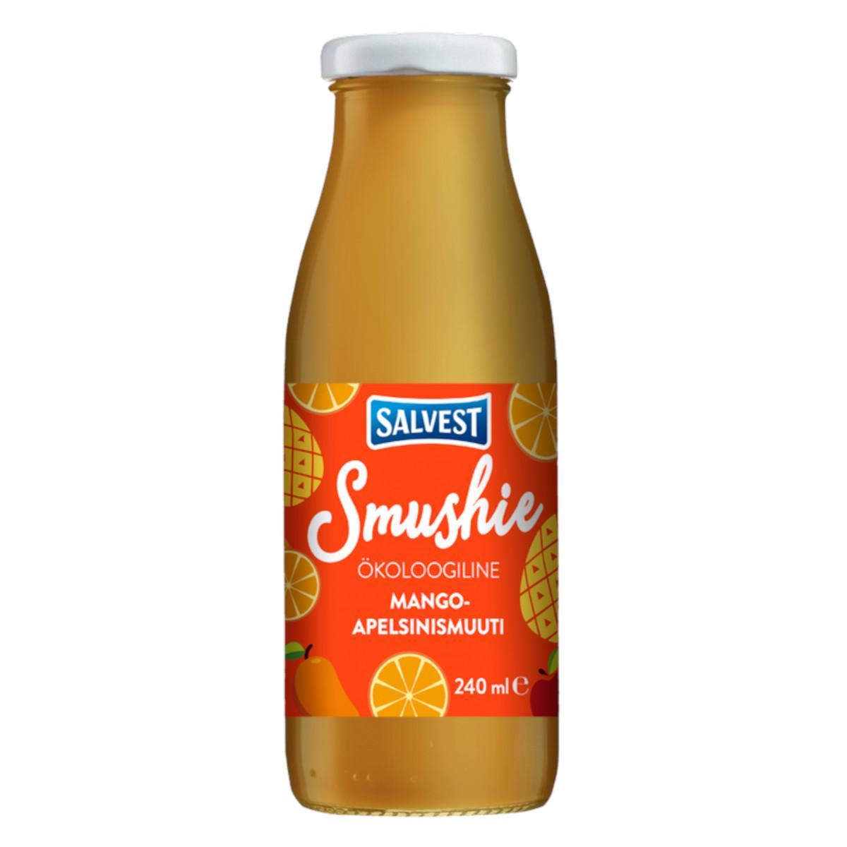 Salvest Smushie BIO Ovocné smoothie s mangem, ananasem a pomerančovou dužinou 240 ml