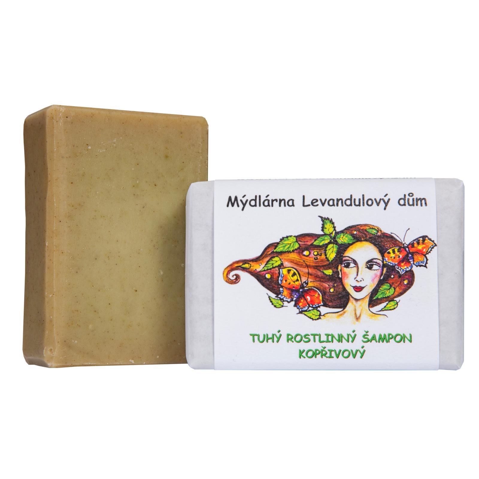 Mýdlárna Levandulový dům Tuhý šampon Kopřivový 120 g
