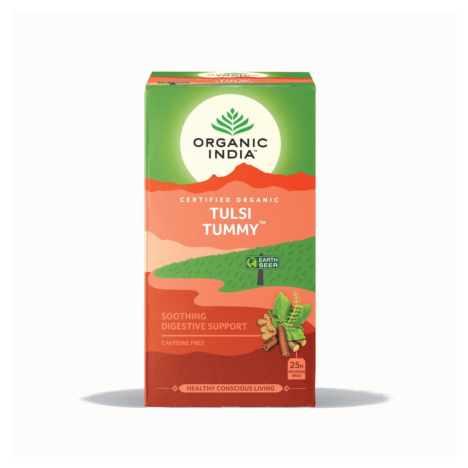 Organic India Čaj Tulsi Tummy pro správné trávení, bio 32,4 g, 25 ks
