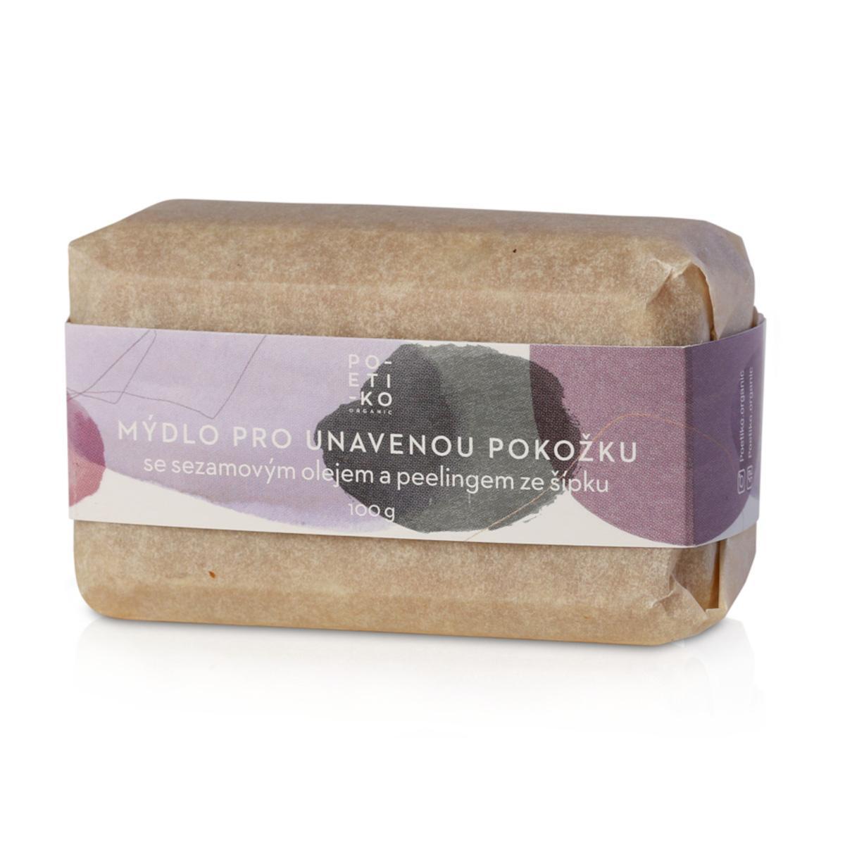 POETIKO Mýdlo pro unavenou pokožku se sezamovým olejem a peelingem ze šípku 100 g