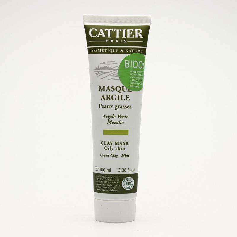 Cattier Maska se zeleným jílem a mátou pro mastnou pleť 100 ml