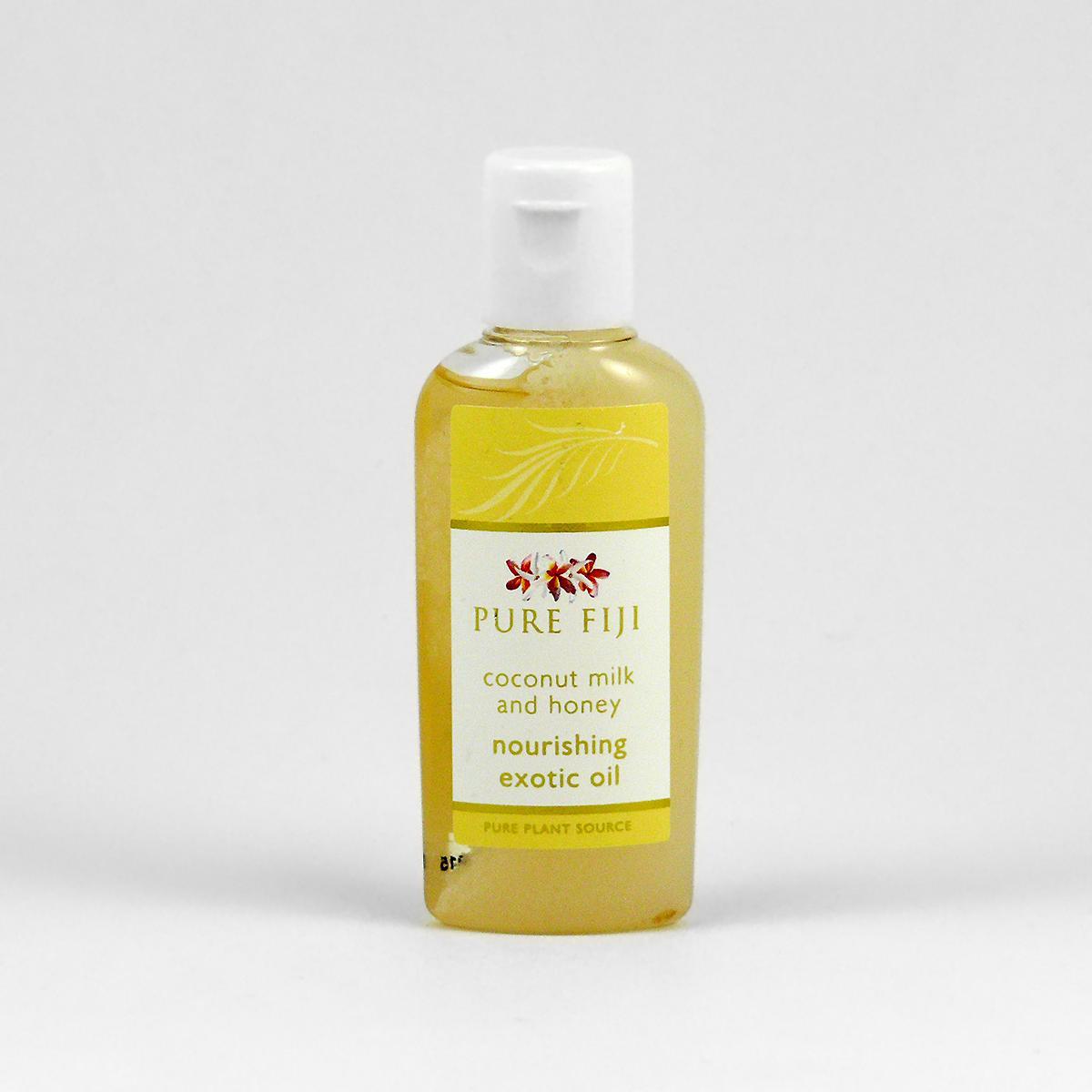 Pure Fiji Exotický masážní a koupelový olej, mléko & med 29 ml