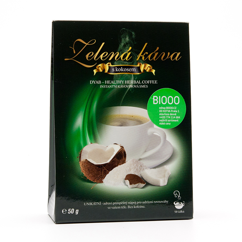 Arun Zelená káva s kokosem 50 g