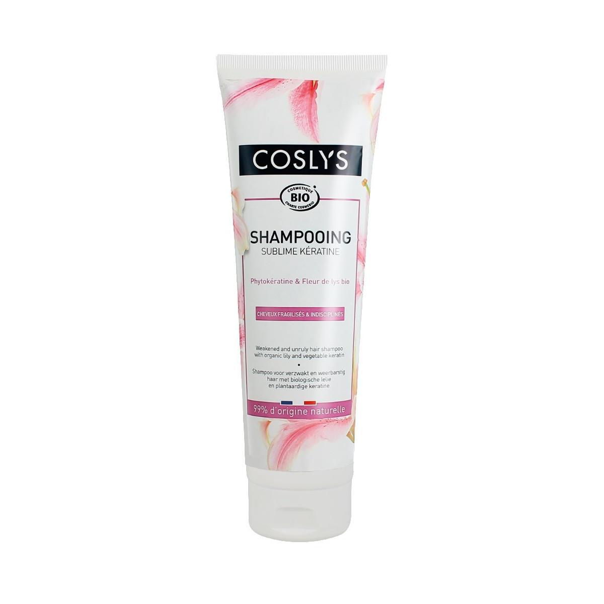 Coslys Šampon pro slabé a nepoddajné vlasy lilie a rostlinný keratin 250 ml