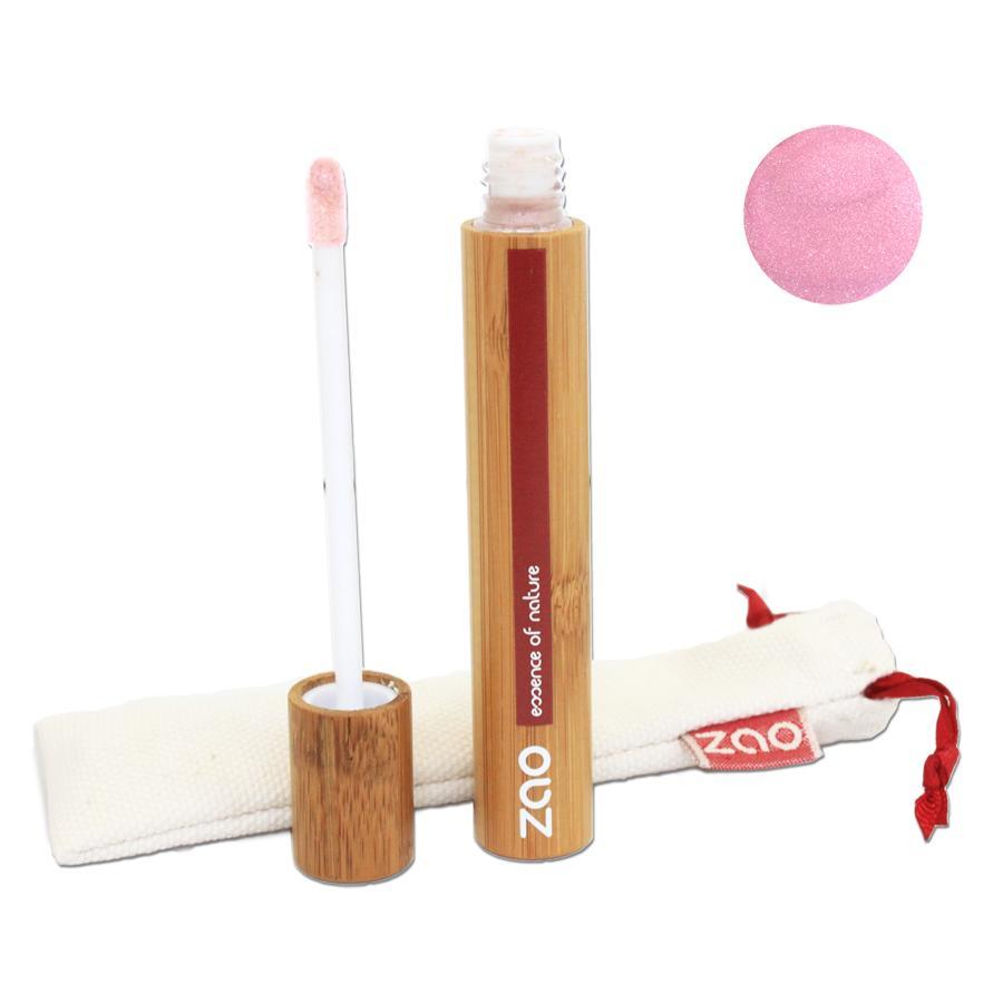 ZAO Lesk na rty 001 Pink 9 ml bambusový obal