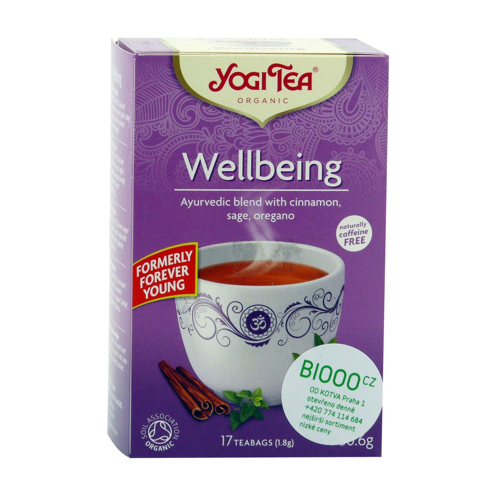 Yogi Tea Čaj Wellbeing 17 ks, 27 g