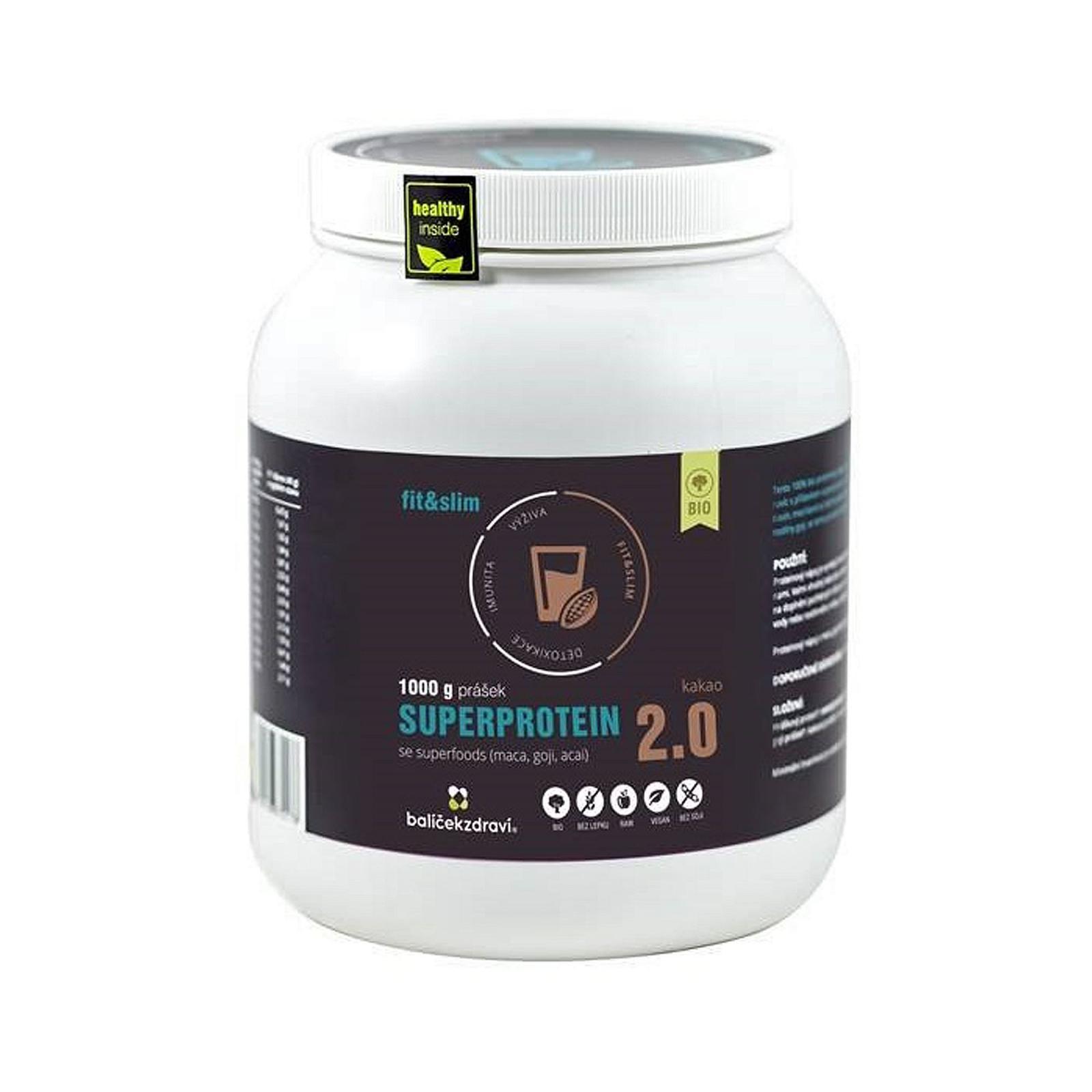 Balíček zdraví Superprotein se superfoods, kakao, bio 1 kg