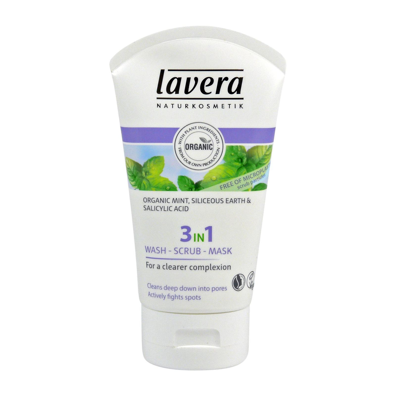 Lavera 3 v 1 očista & peeling & maska, Faces 125 ml