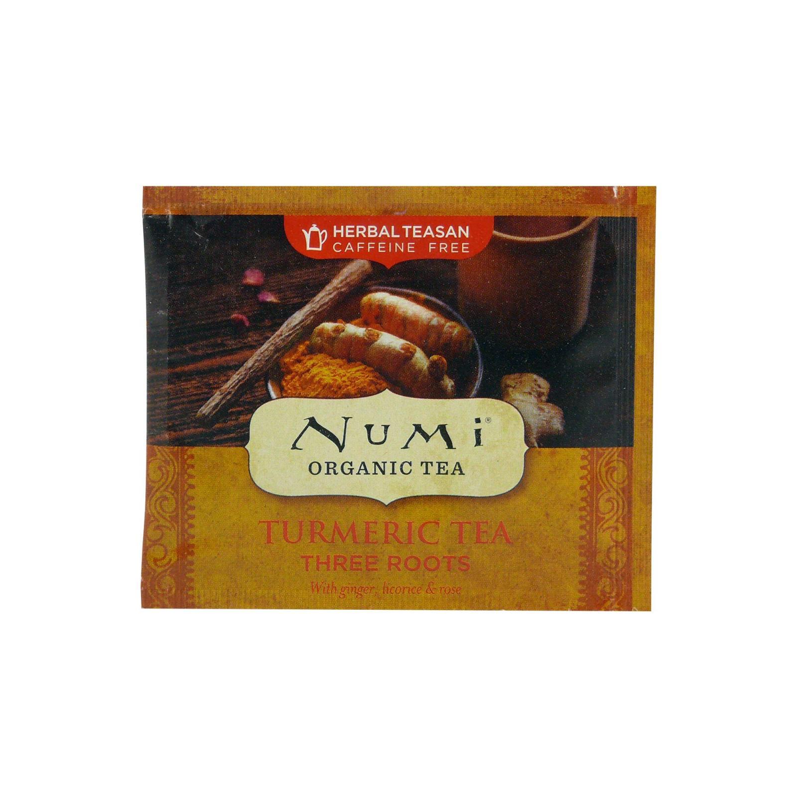 Numi Organic Tea Kořeněný čaj Three Roots, Turmeric Tea 3,35 g, 1 ks