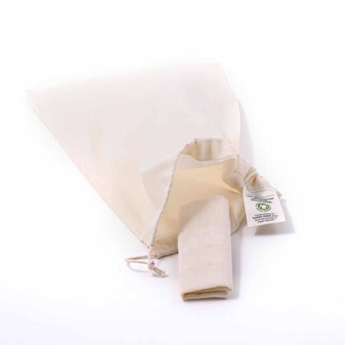 Casa Organica Sáček plátěný z bio bavlny 1 ks, (30x20 cm), malý