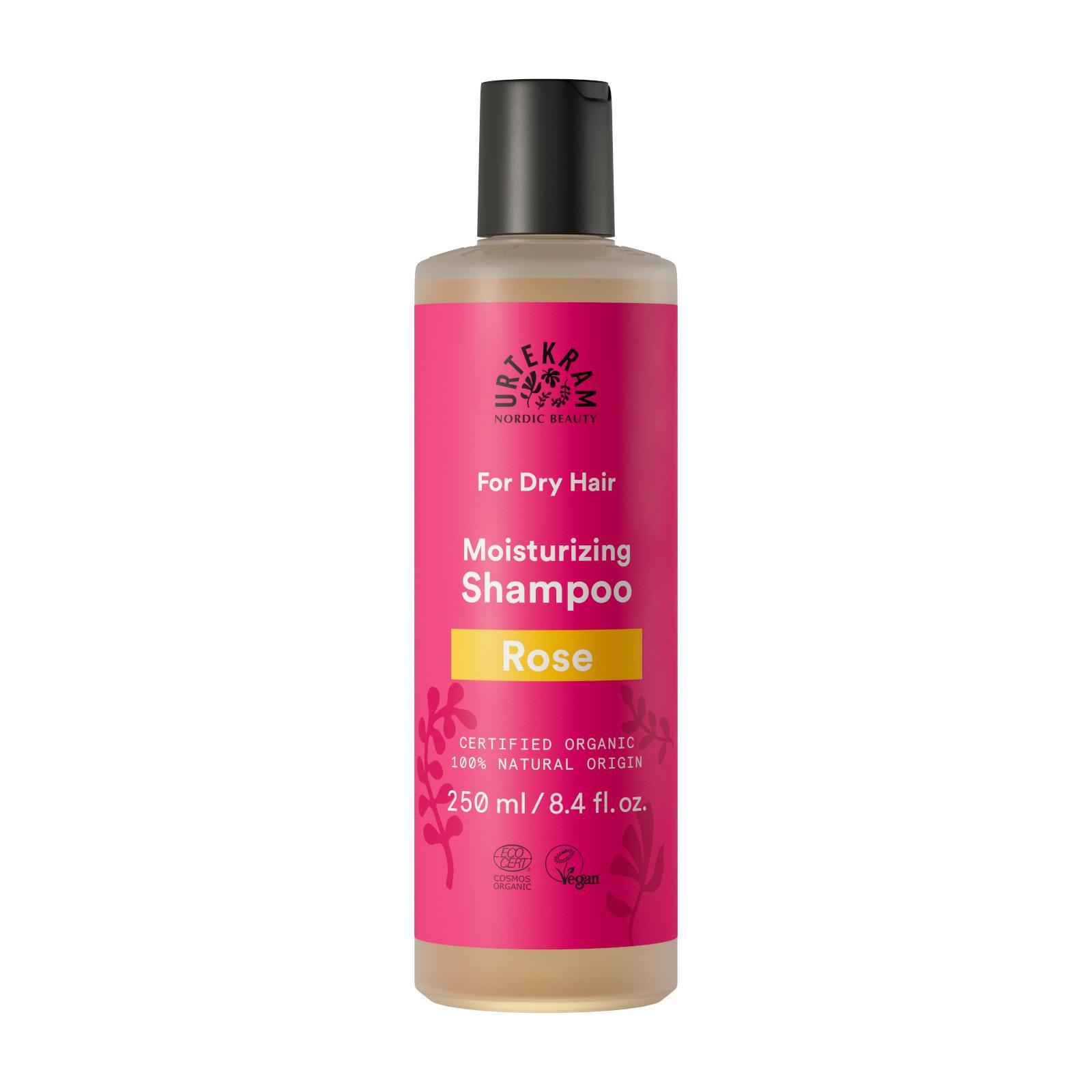 Urtekram Šampon růžový na suché vlasy 250 ml