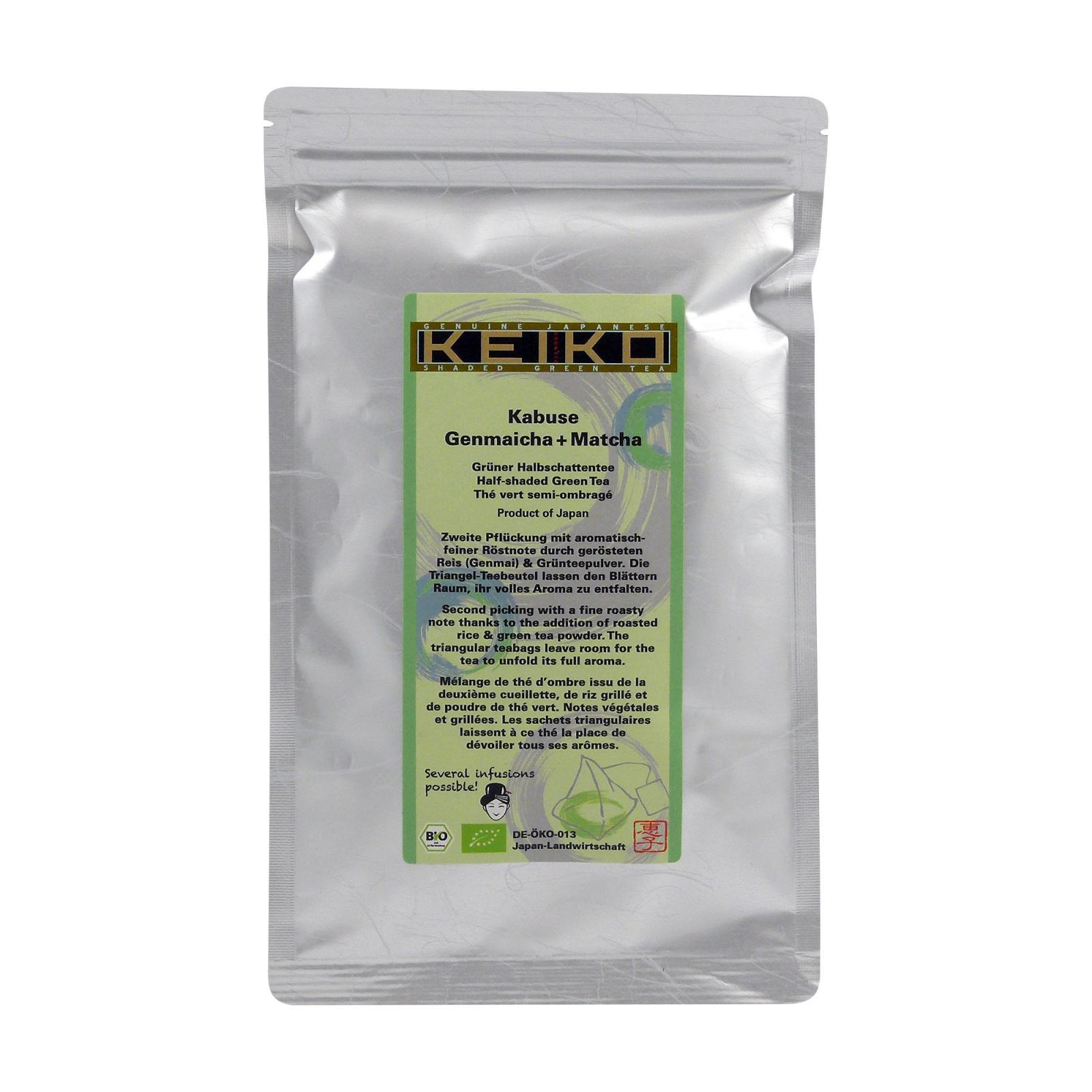 Keiko Zelený čaj Kabuse Matcha Genmai, pyramidky 16 ks, 48 g