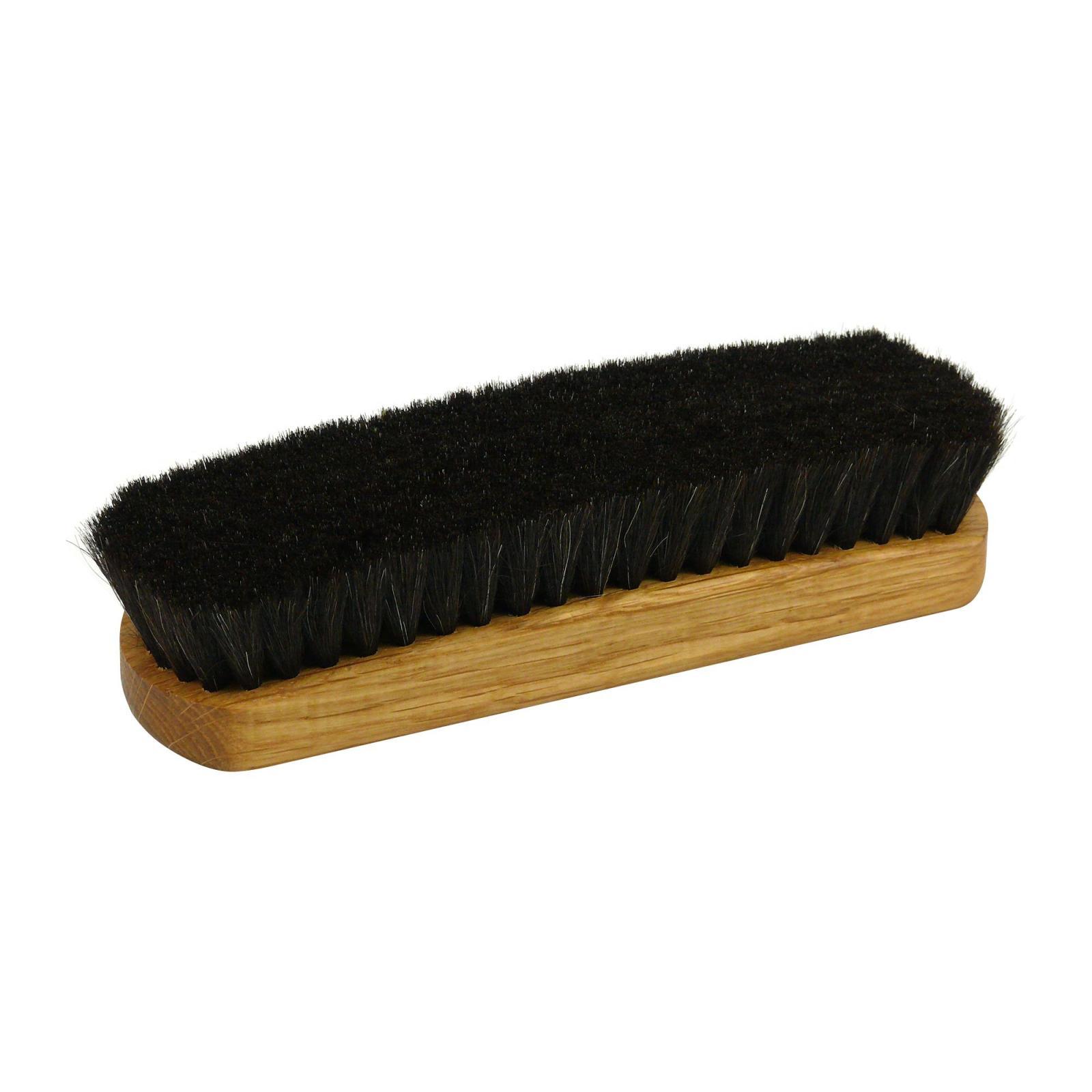 Redecker Lešticí kartáč na boty z dubového dřeva, tmavý 16 cm