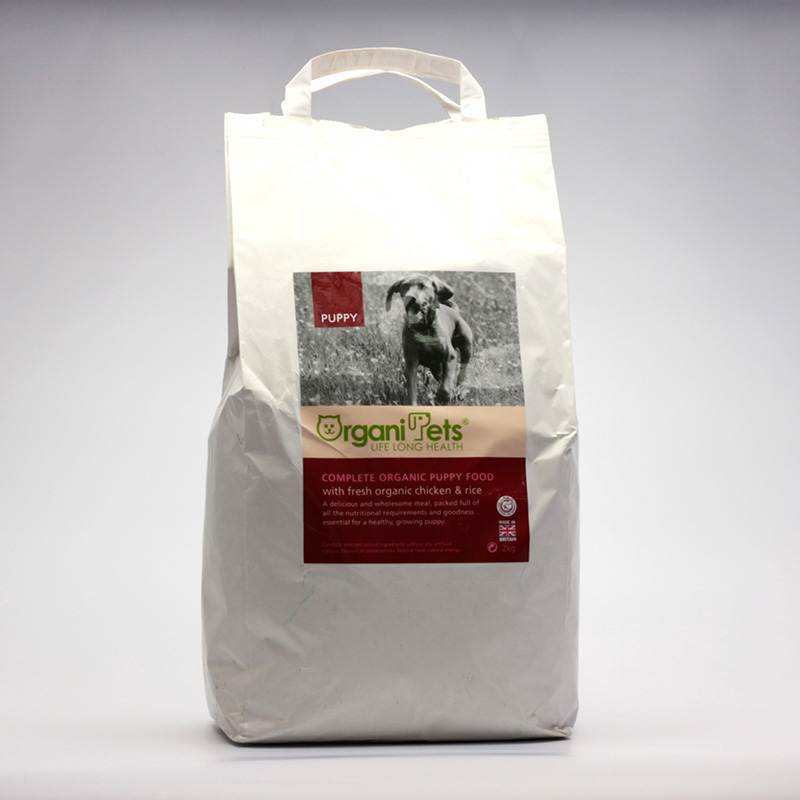 Organipets Krmivo pro štěňata, granule 2 kg