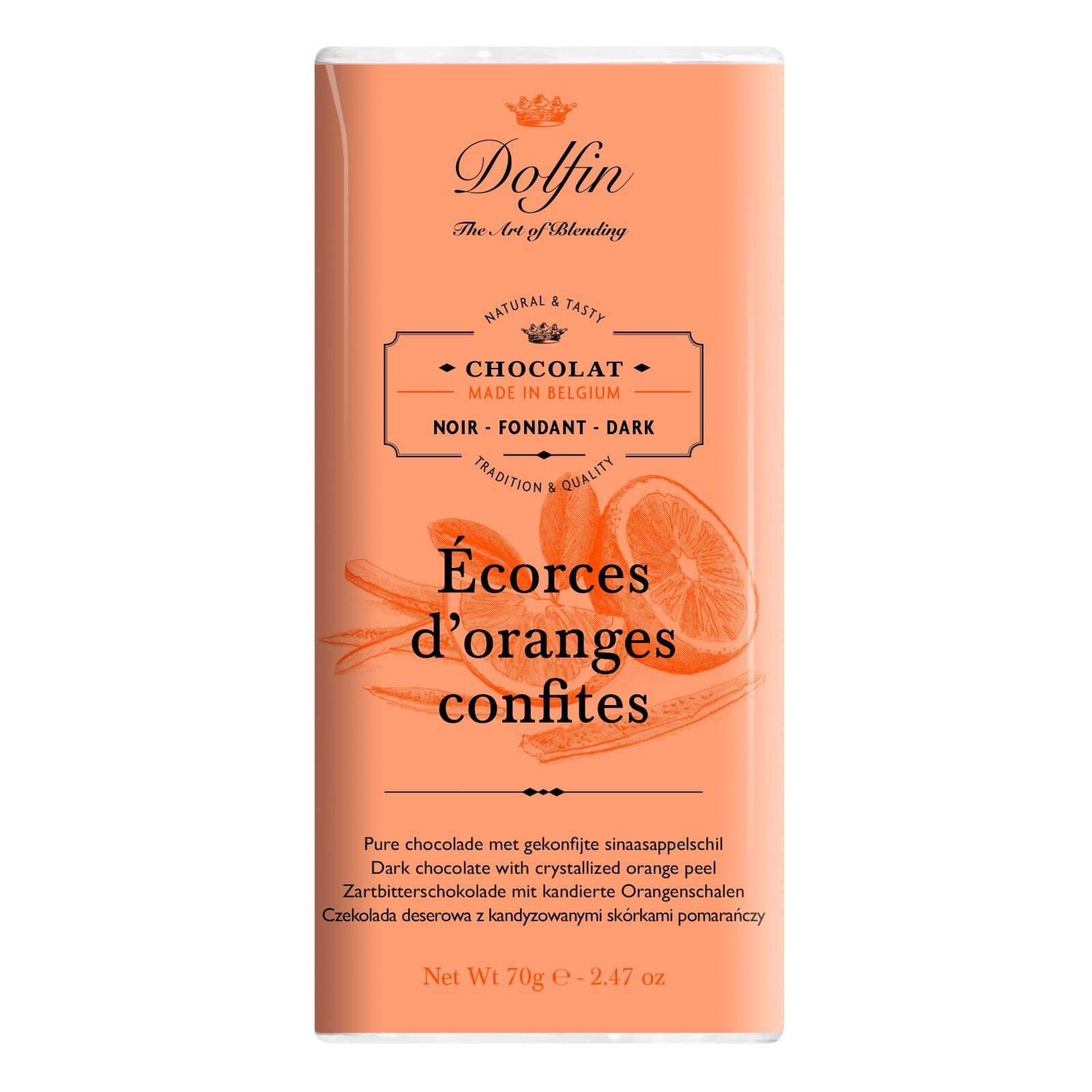 Dolfin Čokoláda hořká s pomerančovou kůrou 70 g