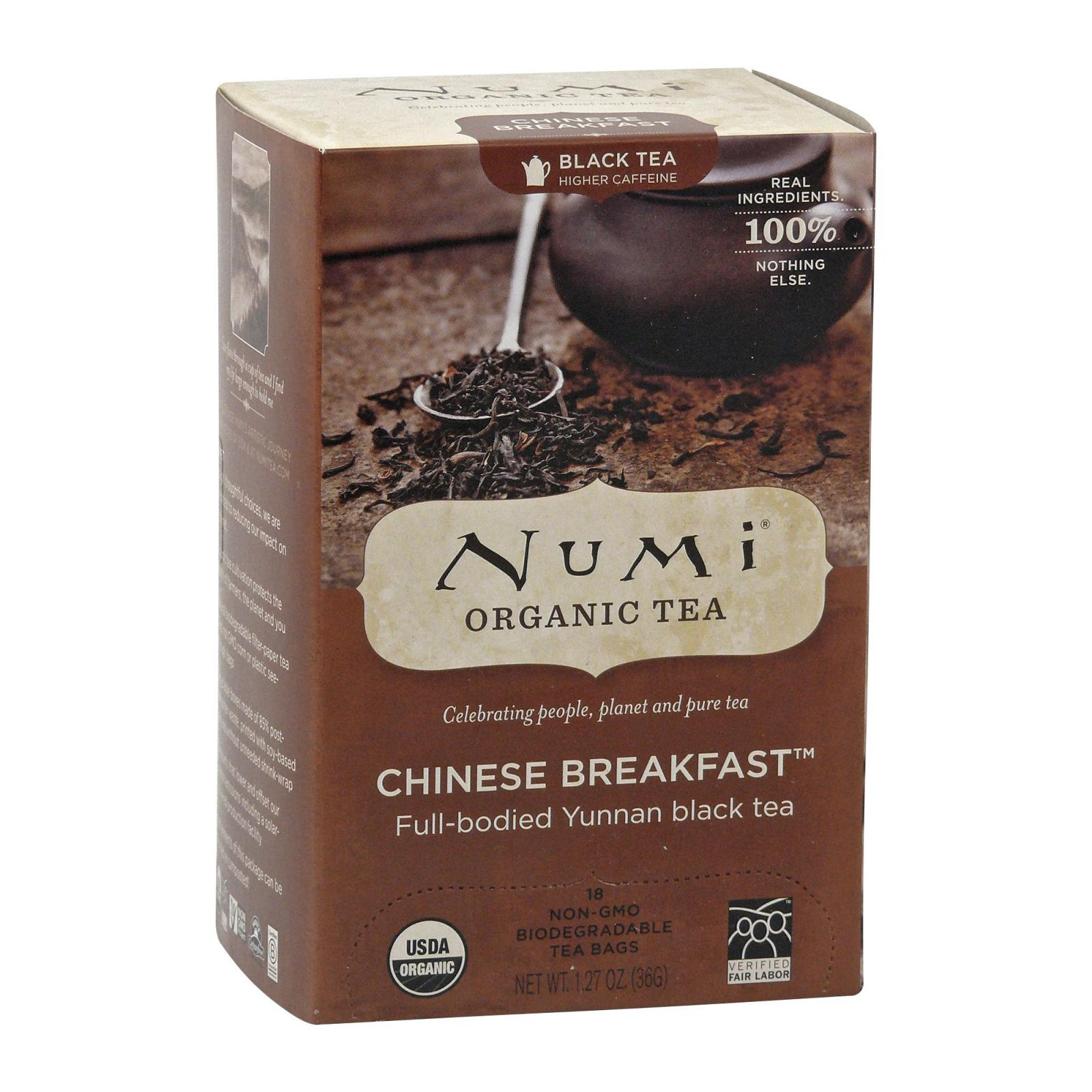 Numi Organic Tea Černý čaj Chinese Breakfast 36 g, 18 ks