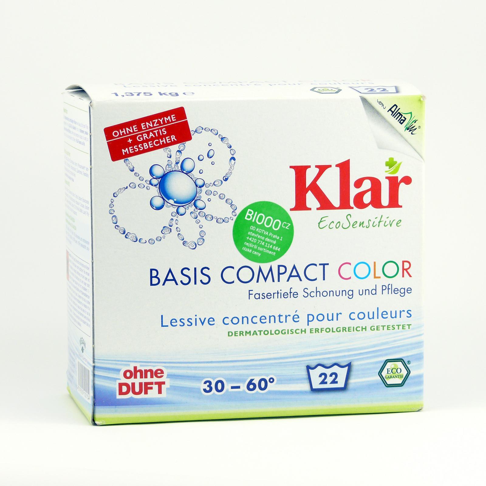 Klar Prací prášek na barevné prádlo Color 1,375 kg