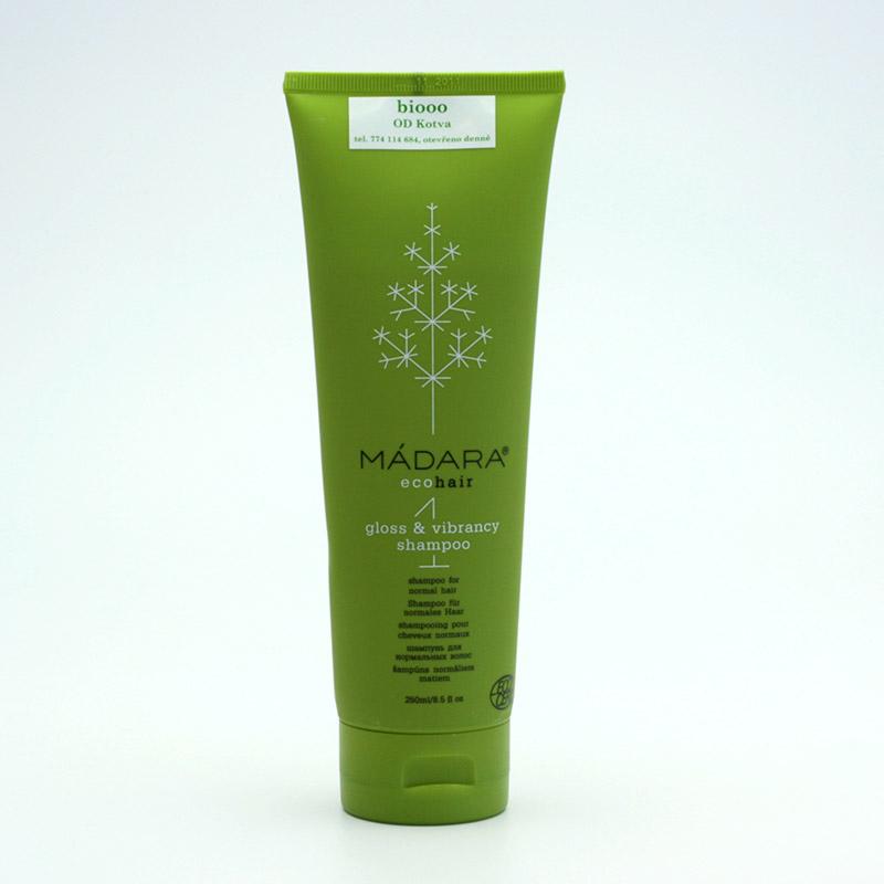 Mádara vzor Šampon pro normální vlasy, gloss and vibrancy 250 ml