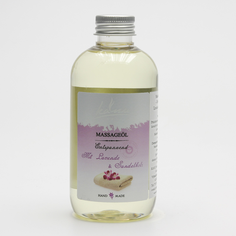 Kanu  ZRUŠENO Masážní olej levandule a santal 200 ml