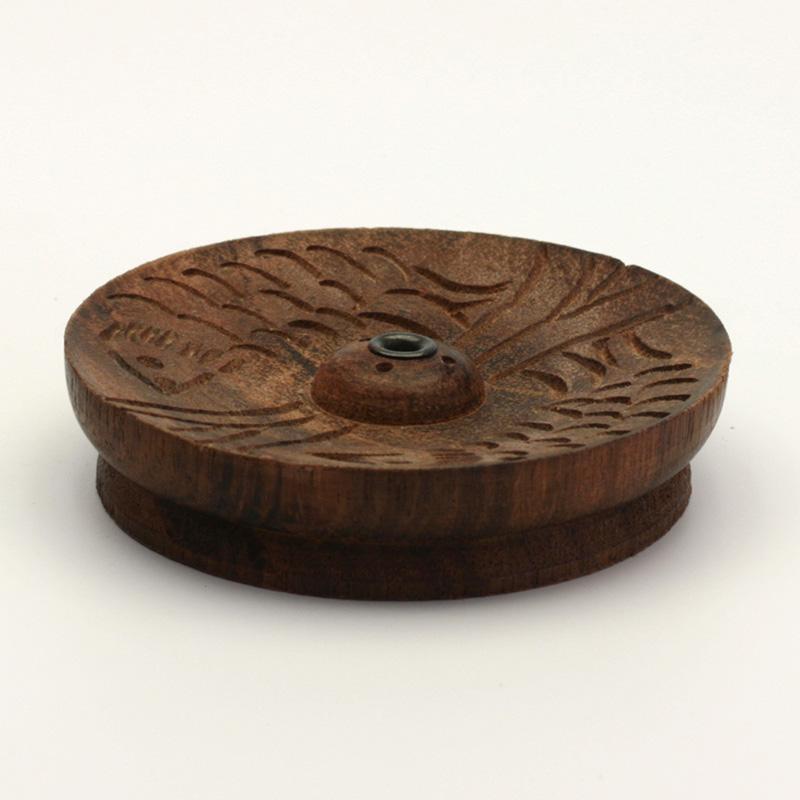 ostatní Stojánek dřevěný na nepálské široké tyčinky, větší a střední talířek 1 ks