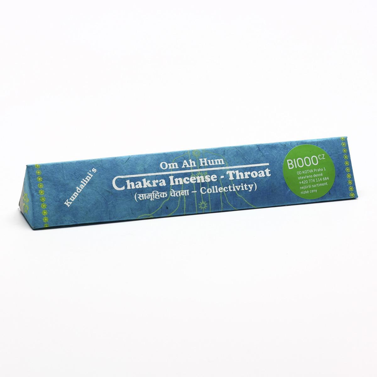 Chakra Incense Vonné tyčinky tibetské, Throat - collectivity 19 ks