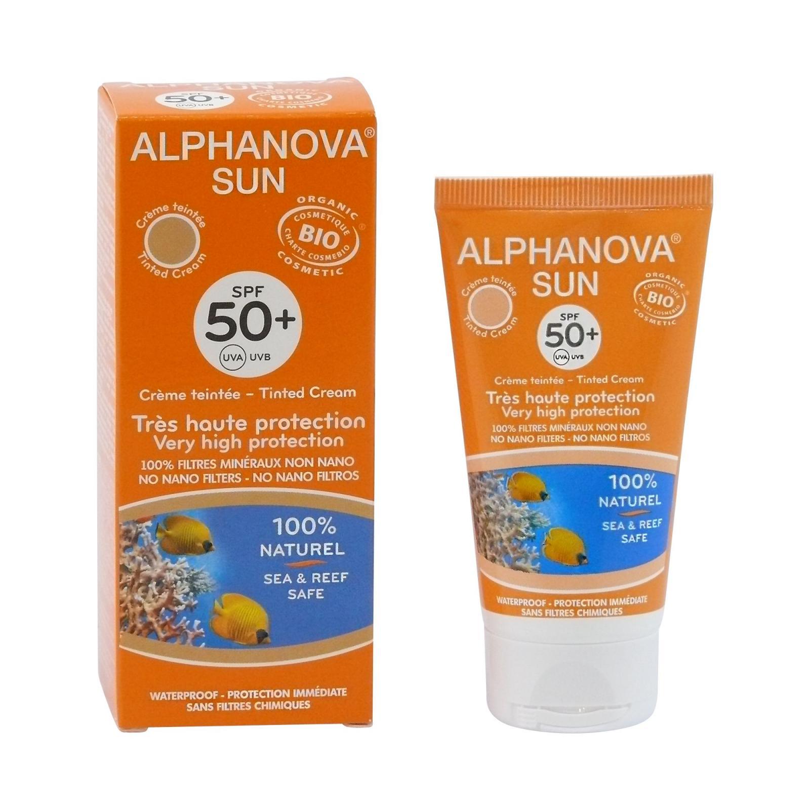 Alphanova Opalovací tónovací krém SPF 50+ 50 g