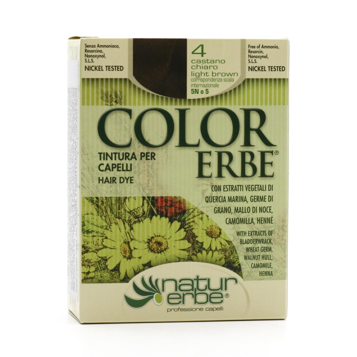 Color Erbe Barva na vlasy Světle kaštanová 04, Natur 135 ml