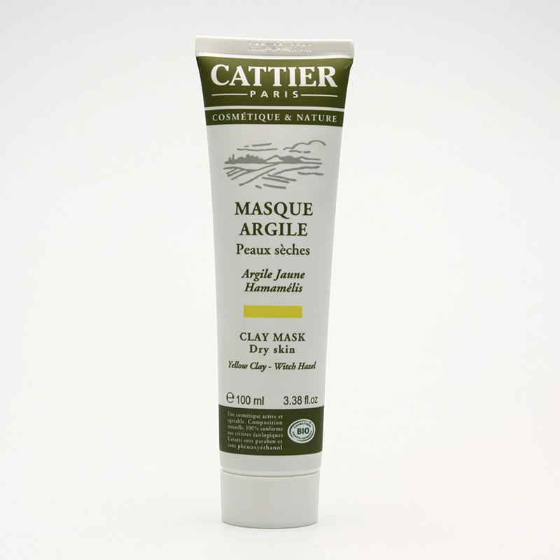 Cattier Maska se žlutým jílem a vilínem pro suchou pleť 100 ml
