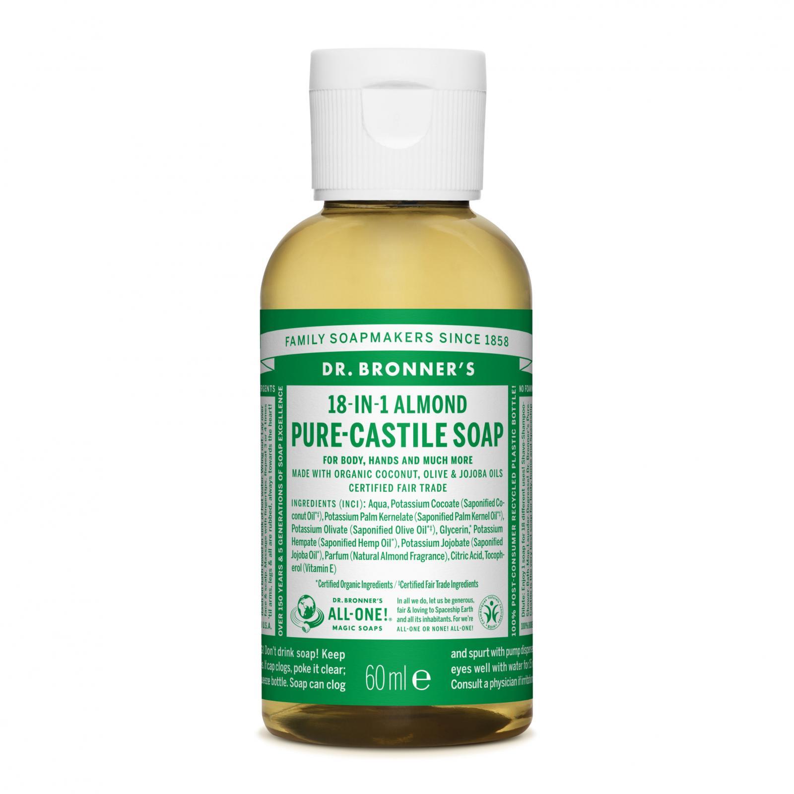 Dr. Bronner´s Tekuté universální mýdlo ALL-ONE!, Almond 59 ml