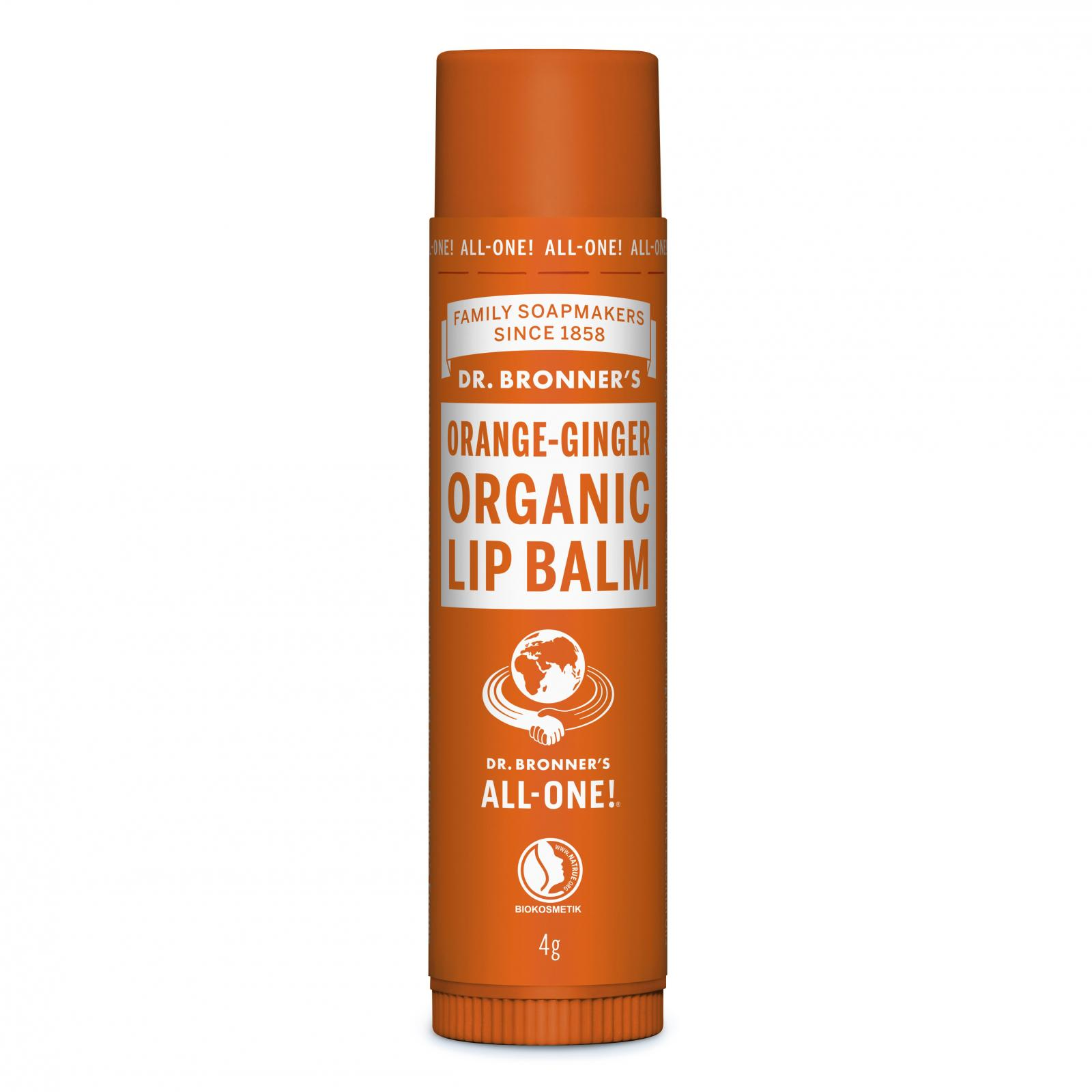 Dr. Bronner´s Balzám na rty Orange Ginger 4 g