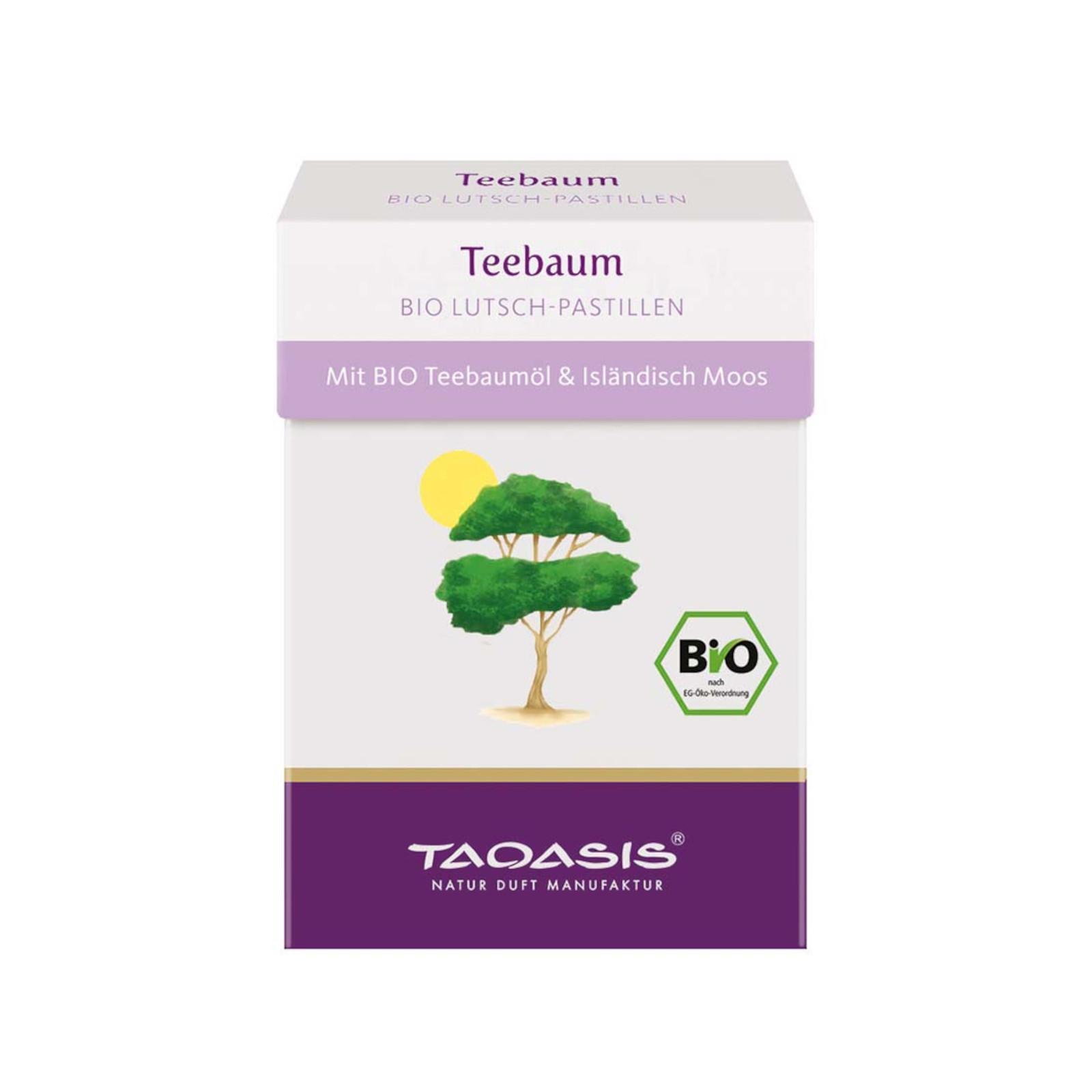 Taoasis Pastilky Tea tree, Bio 30 g