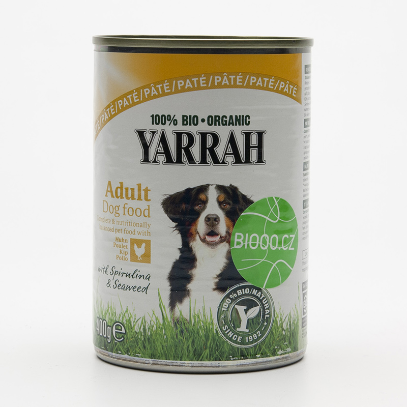 Yarrah Paté pro psy kuřecí, Wellness 400 g
