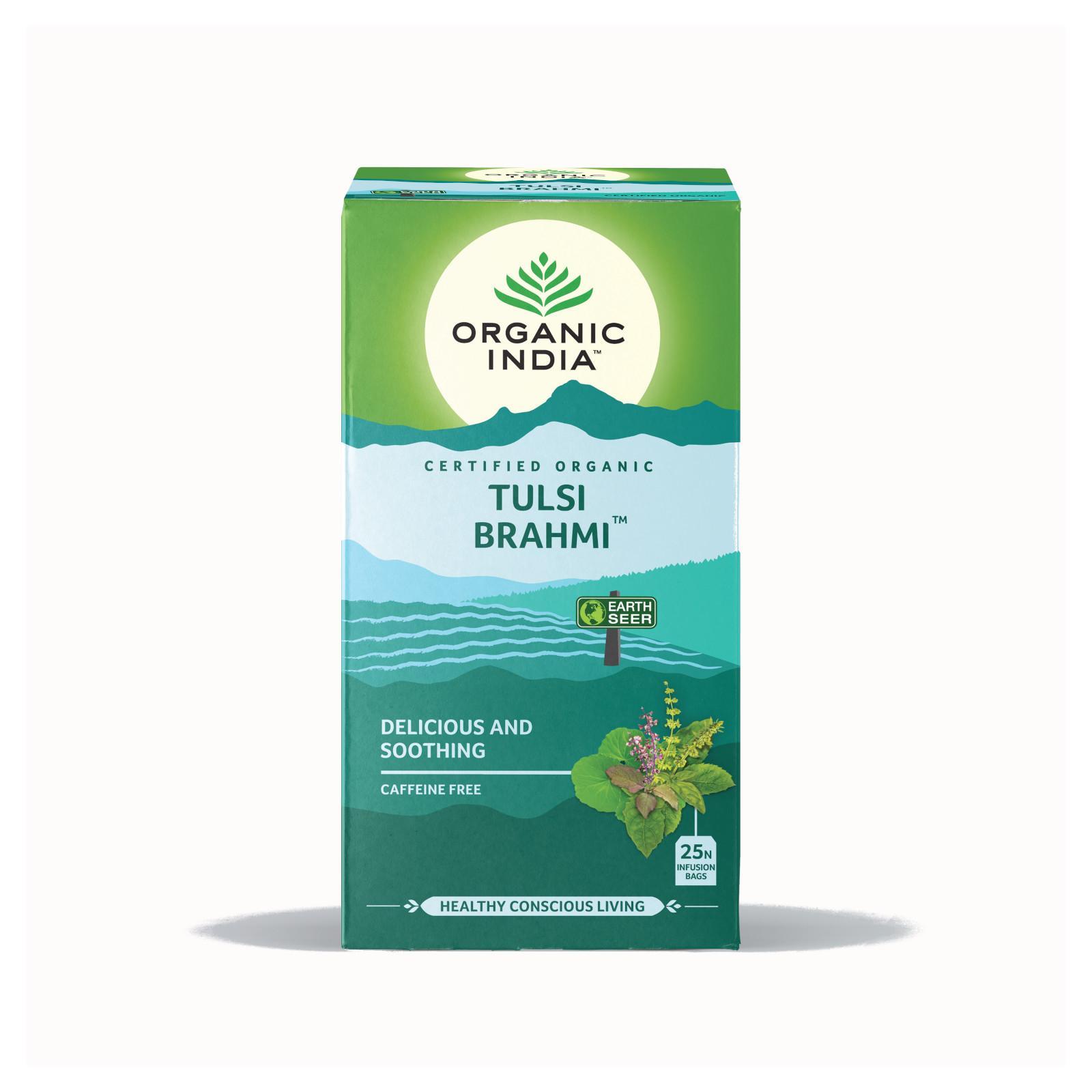 Organic India Čaj Tulsi Brahmi, porcovaný 25 ks, 43,5 g