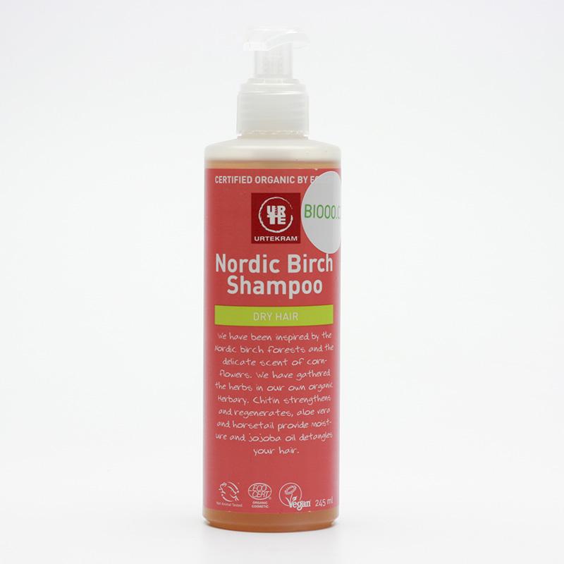 Urtekram Šampon na suché vlasy, Severská bříza 245 ml