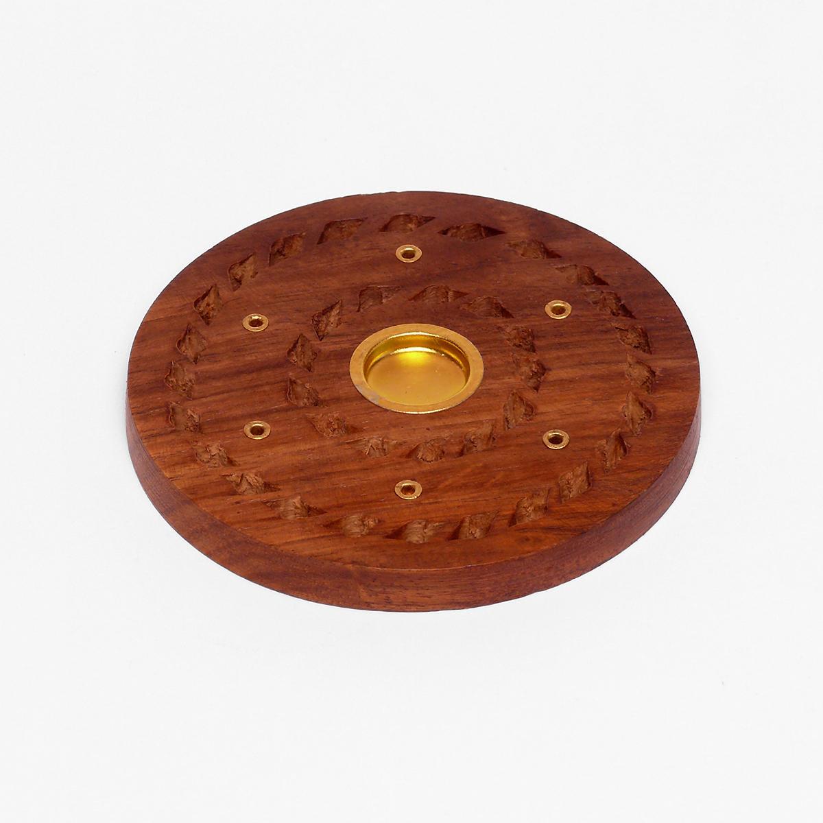 ostatní Talířek dřevěný na tyčinky a jehlánky, kruhy 1 ks