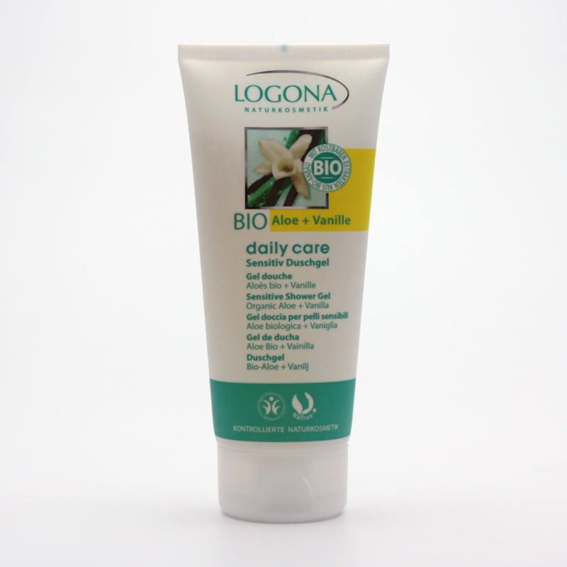 Logona Sprchový gel aloe a vanilka, Daily Care Sensitive - vyřazen 200 ml