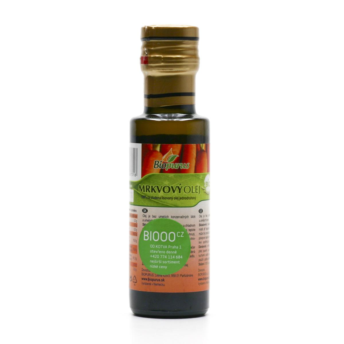 Biopurus Mrkvový olej bio 100 ml