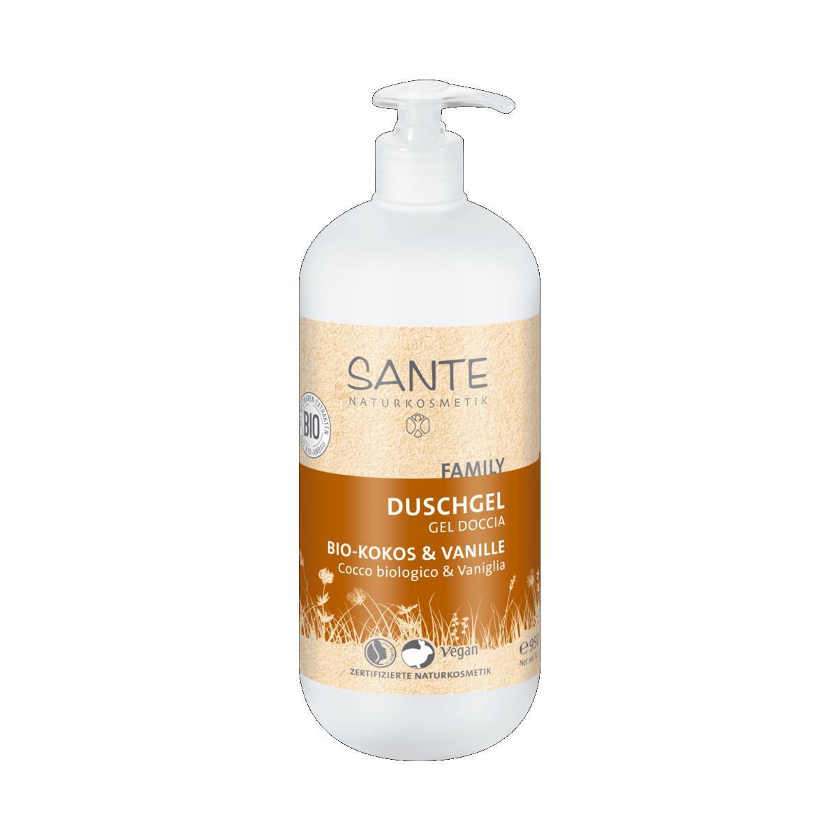 SANTE Sprchový gel bio kokos a vanilka, Family 950 ml